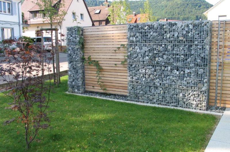 Steink rbe und sichschutzelemente natursteinzentrum srt for Steinkorb sichtschutz